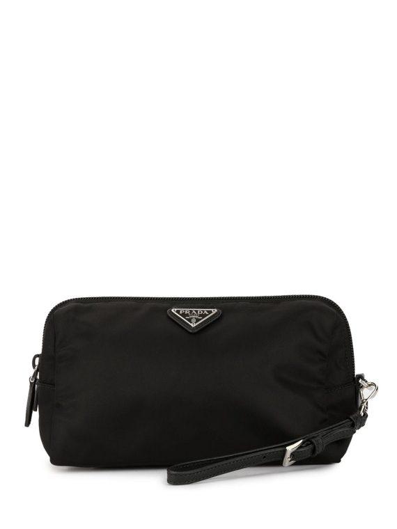 Prada Pre-Owned logos cosmetic pouch - Black - Prada Pre-Owned
