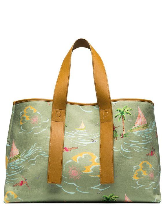 Rejina Pyo Carter Hawaiian print tote bag - Green - Rejina Pyo