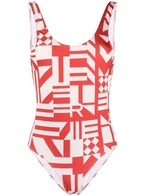 Roseanna Roseanna striped print swimsuit - Red - Roseanna