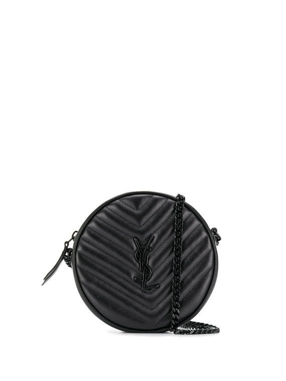 Saint Laurent Jade quilted-effect shoulder bag - Black - Saint Laurent