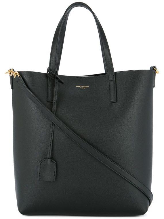 Saint Laurent Shopping tag detail tote bag - Black - Saint Laurent