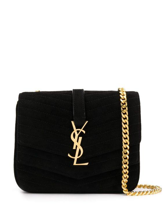 Saint Laurent Sulpice quilted shoulder bag - Black - Saint Laurent