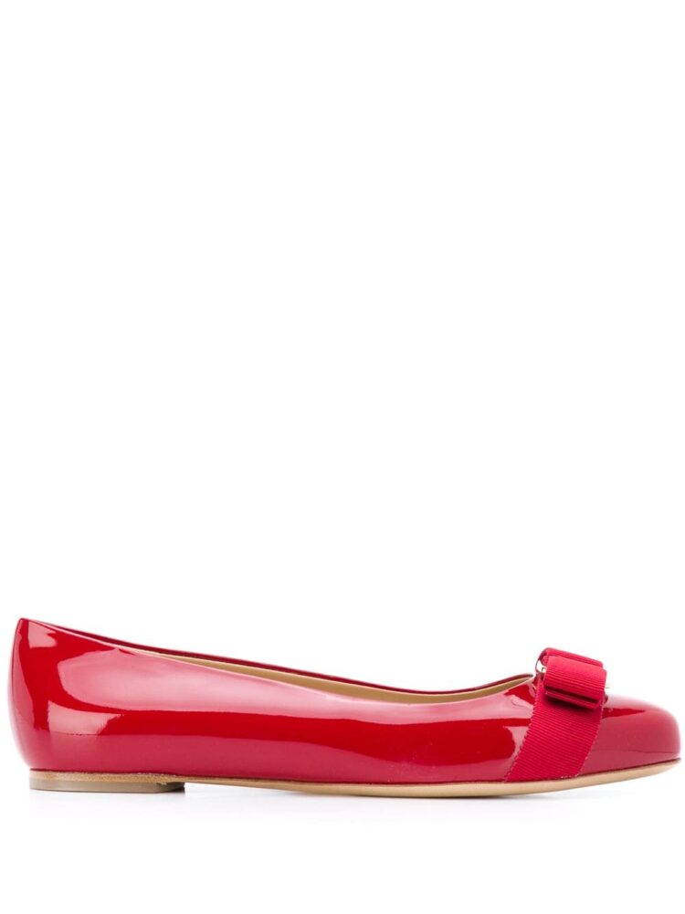 Salvatore Ferragamo Vara Bow ballerina shoes - Red - Salvatore Ferragamo