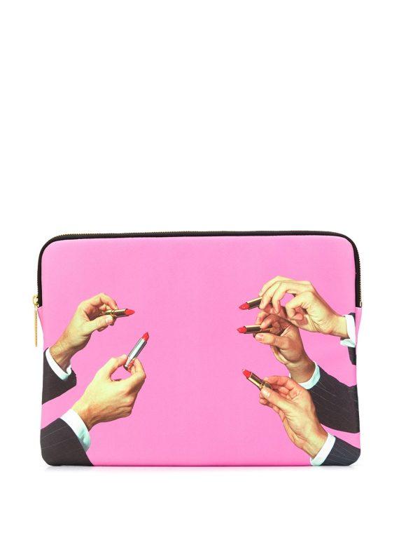 Seletti lipstick 13inch laptop case - PINK - Seletti