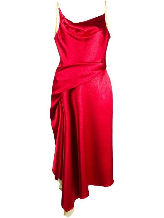 Sies Marjan Farrah satin dress - Red - Sies Marjan