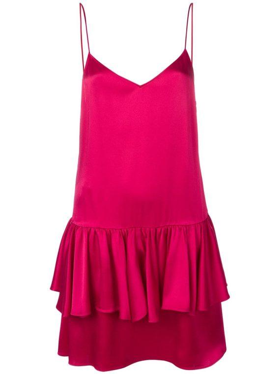Stella McCartney sweetheart sleeveless ruffle dress - PINK - Stella McCartney