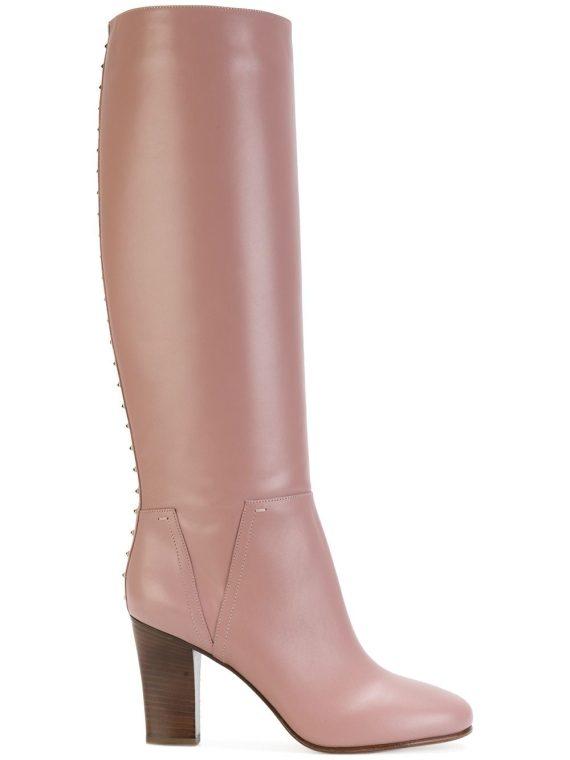 Valentino Garavani Lovestud boots - PINK - Valentino Garavani