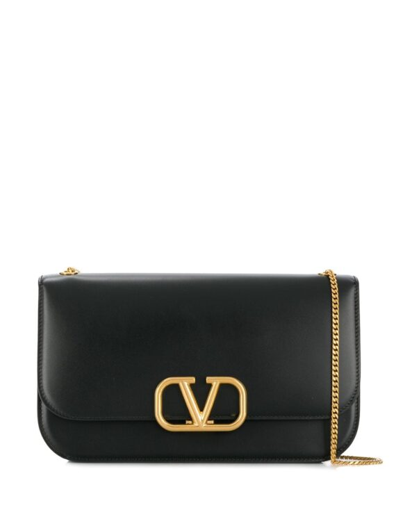 Valentino Garavani VLOCK shoulder bag - Black - Valentino Garavani