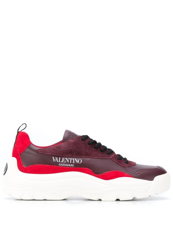 Valentino Garavani panelled leather sneakers - Red - Valentino Garavani