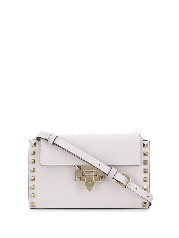 Valentino Garavani small Rockstud shoulder bag - White - Valentino Garavani