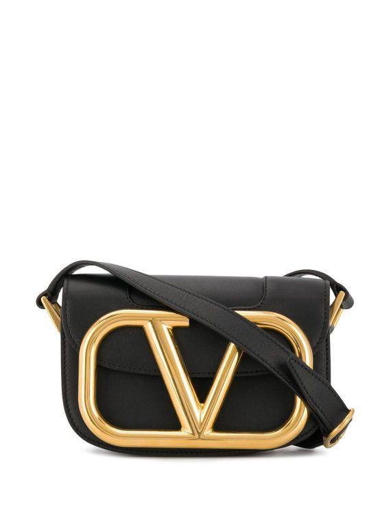 Valentino Garavani small Supervee crossbody bag - Black - Valentino Garavani