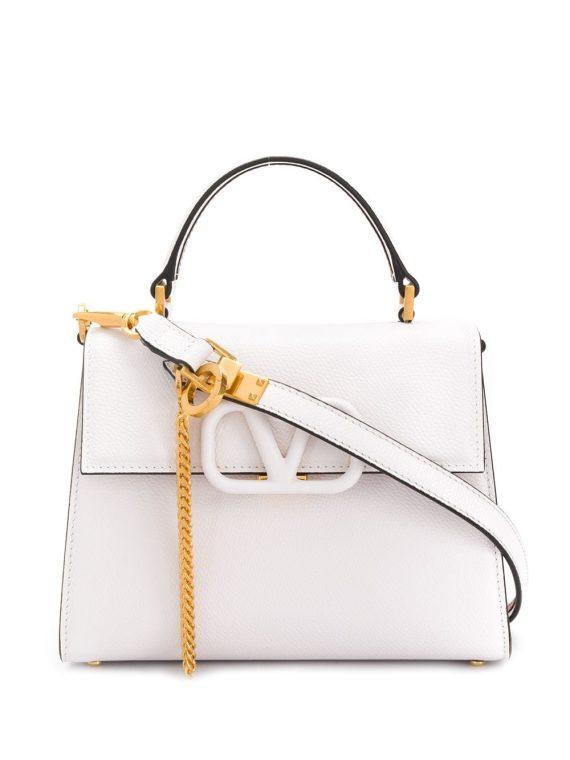 Valentino Garavani small VSLING tote bag - White - Valentino Garavani
