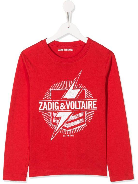 Zadig & Voltaire Kids Kita graphic-print sweatshirt - Red - Zadig & Voltaire Kids