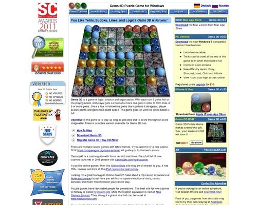 Gems 3d Puzzle Game.