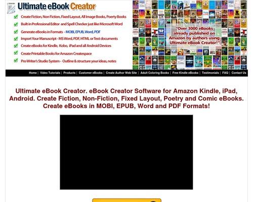 Ultimate Ebook Creator Amazon Kindle Mobi Epub Word PDF
